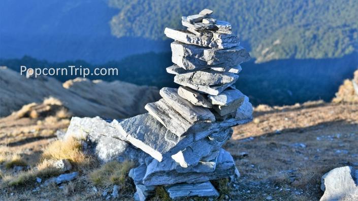 Wish stones at Chandrashila