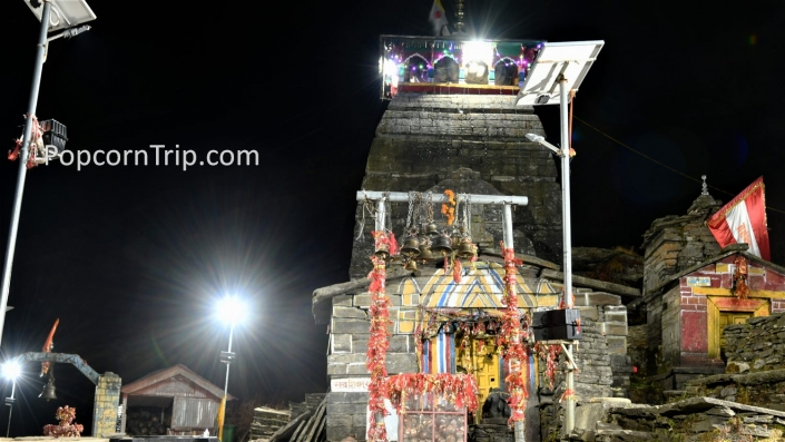 Tungnath temple at night