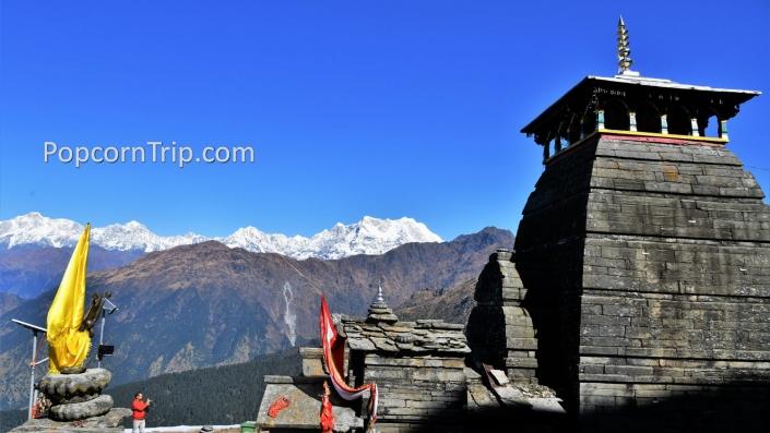 Tungnath temple and Himalayas