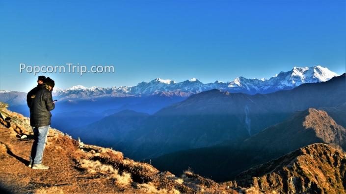 Himalayas from Chandrashila